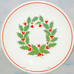 Taylor Smith Taylor Holiday Wreath Dinner Plate