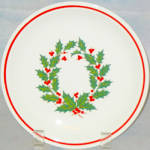 Taylor Smith Taylor Holiday Wreath Salad Plate