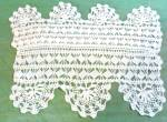 Antique Hand Crochet Lace Doily Or Doilie