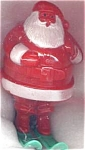 Hard Plastic Santa On Skies Christmas Holiday Decoration