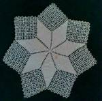 Hand Crochet Star Shaped Doily