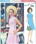 Vogue Paris Original 2206 Mod 60s Dress Pattern