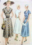 1950s Mccall 8118 Dress Pattern V Neckline Flared Skirt