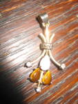 Sweet Gold Filled Lavaliere Opal Tigers Eye Pendant