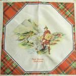 Scottish Vintage Hanky Tartan Border Robbie Burns Day