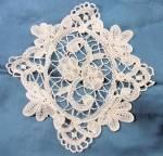 Antique Honiton Bridal Lace Applique Insert