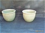 Greenware Yellowware Pudding Cups Yellowware