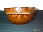 Rockingham Glaze Yellowware Bowl