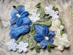 Lovely Intricate Heavily Embroidered Vintage Applique
