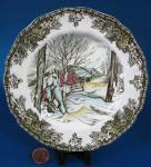 Vintage English Friendly Village Salad Plate Johnson Brothers Willow