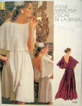 70s Vogue Americana Pattern De La Renta Evening Dress