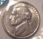 1971 Jefferson Nickel Bu Or Better Cut From Mint Set Coins