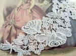 Vintage Roses Applique Intricate Fretwork Trim