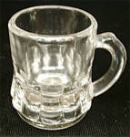 Toothpick Holder Federal Clear Glass Beer Mug Vintage 1950s