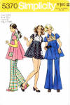 Cute 70s Simplicity 5370 Pattern Mini Dress,pants