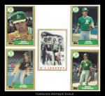 Oakland A's 1987 Topps Baseball Cards 5 Pc