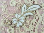 Lovely Vintage Small French Applique Rich Gold Metallic