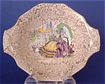 Art Deco Candy Dish Crinoline Lady Chintz H And K 1930s English Chintz