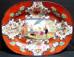 Apothecary Pattern Chinoiserie Platter 1820