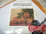 Unusual Copper Cross Stitch Cottage Ornaments Kit