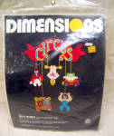Dimensions 1980 Plastic Canvas Circus Mobile Kit