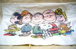 Vintage Cotton Peanuts Twin Size Pillow Case