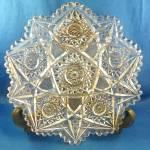 Plate American Brilliant Period Cut Glass