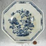 Masons Manchu Blue Transferware Large Bowl Octagonal 1940s