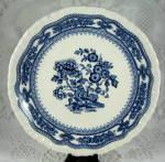 Masons Manchu Bread And Butter Plate Blue Transferware Cake Plate