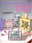 Totes And Purses On Colored Plastic Canvas