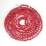 Red Faceted Mercury Glass Beaded Christmas Garland
