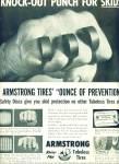 Armstrong Tubeless Tires - Rhino Flex Ad 1955