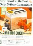 Hamilton Beach Toaster Ad 1956
