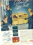 1948 Admiral Triple Thrill Tv Radio Phono Ad