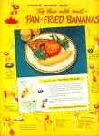 Pan Fried Bananas Ad 1949
