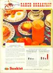 Sunkist California Oranges Ad - 1947