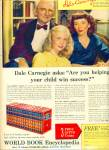 1950 Dale Carnegie & Family World Book Ad