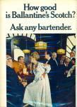 1966 Ballantine Scotch Ad Elegant Lady