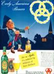 1941 Ballantine Ale Ad Ben Franklin Pioneer