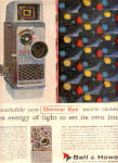 1957 Bell Howell Electric Eye Movie Camera Ad