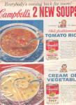 1960 Campbell Soup Ad Tomato Rice Transferware