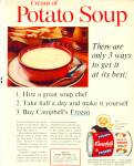1961 Campbell's Cream Of Potato Soup Ad