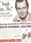 1953 Alan Ladd Auto-lite Spark Plugs Ad