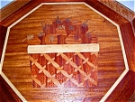 Handmade Wooden Tray With Inlaid Marquetry Design
