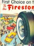 Firestone Delux Champion Tires Ad 1957