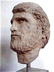 Large Sculpture Bust Of A Heroic Man