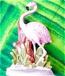 Porcelain Pink Flamingo Figurine