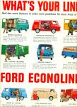 1963 Ford Econoline Van Ad What's Your Line