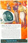1934 General Balloon Tires Ad Trail Ride Art