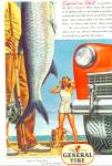 1946 General Tire Ad Fish Hananiah Harari Art